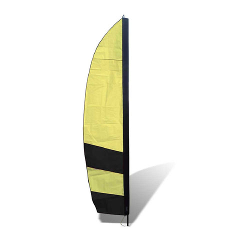 10 ft. Corner Air Gate Banner for FPV Drone Racing - Black and Yellow