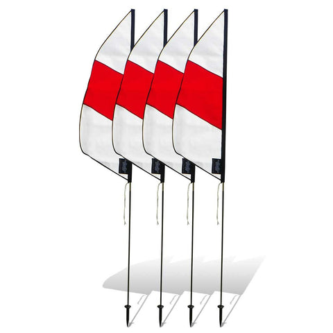3.5 ft. Boundary Air Gate Marker for FPV Drone Racing (set of 4) - Red and White