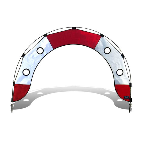 Pro Fly Under Air Gate Arch for FPV Drone Racing - Red and White