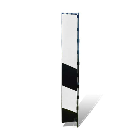 8 ft. Air Gate Marker Banner for FPV Drone Racing - Black and White