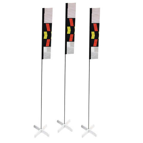 10 in. Mini Slalom FPV Racing Air Gates with 24 in. Poles (Set of 3)