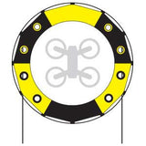 5 Ft Keyhole Gate for Drone Racing - Black and Yellow