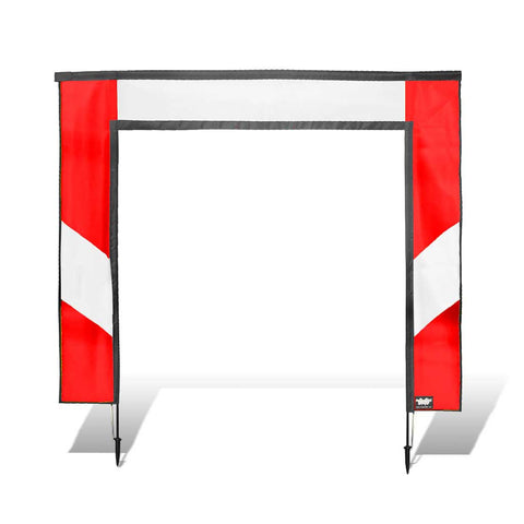 Square Air Gate for FPV Drone Racing - Red and White