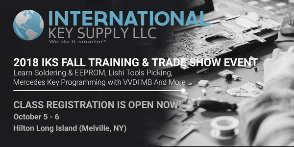 THE 2018 INTERNATIONAL KEY SUPPLY FALL PRODUCT TRAINING AND TRADE SHOW