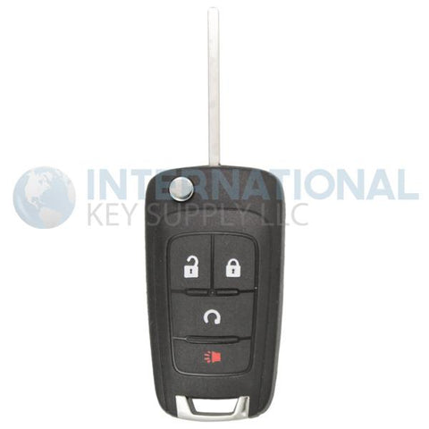 Chevrolet PEPS 4 Button Remote Flip Key KR55WK500733 13575177
