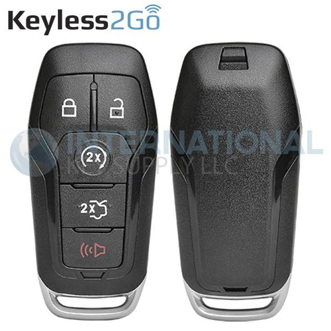 Keyless2Go 5 Button Shell for Ford Smart Proximity Keys M3N-A2C31243300 / 164-R7989