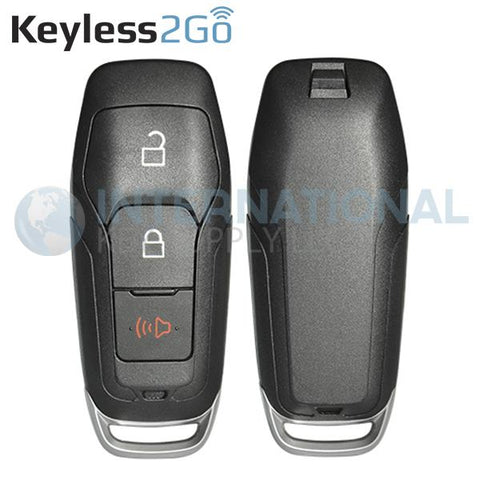 Keyless2Go 3 Button Shell for Ford Smart Proximity Keys M3N-A2C31243300 / 164-R8111