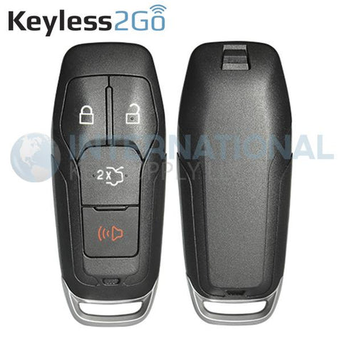 Keyless2Go 4 Button Shell for Ford Smart Proximity Keys M3N-A2C31243300 / 164-R8109