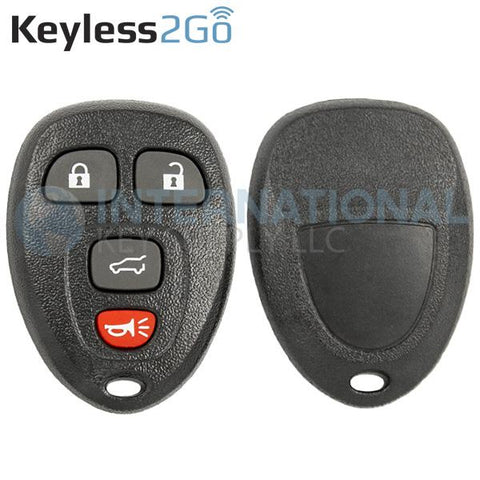 Keyless2Go 4 Button Hatch Replacement Shell for GM OUC60270 20952476