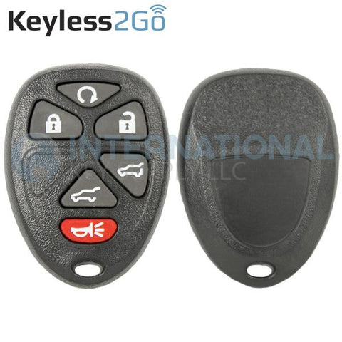 Keyless2Go 6 Button Remote Shell For GM OUC60270 OUC60221 22756462