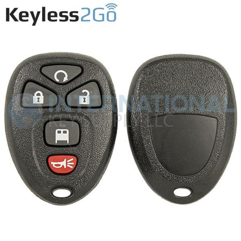 Keyless2Go 5 Button Remote Shell For GM Vans OUC60270 20970808