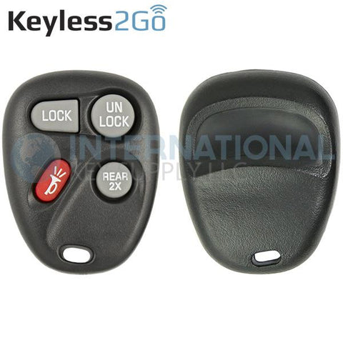 Keyless2Go 4 Button Hatch Replacement Shell for GM KOBUT1BT 15732805