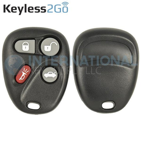 Keyless2Go 4 Button Replacement Shell for GM KOBUT1BT 25665574 25665575