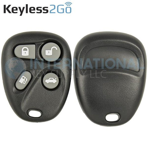 Keyless2Go 4 Button Gas Replacement Shell for GM KOBUT1BT 25656444 25656445
