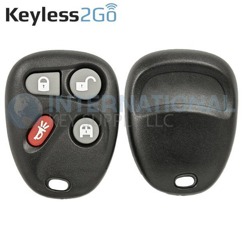 Keyless2Go 4 Button Remote Shell For GM KOBLEAR1XT 15752330