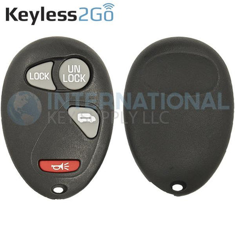 Keyless2Go 4 Button Replacement Shell for GM L2C0007T 10335586