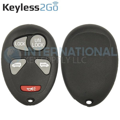 Keyless2Go 5 Button Replacement Shell for GM L2C0007T 10335582-88