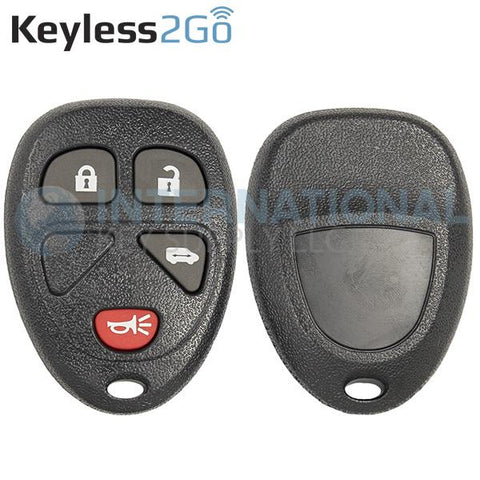 Keyless2Go 4 Button Replacement Shell for GM VAN KOBGT04A 15100812 15788021