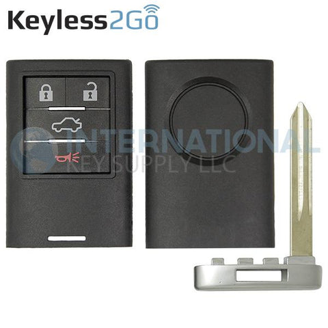 Keyless2Go 4 Button Remote Shell for Cadillac Smart Proximity Key M3N5WY7777A