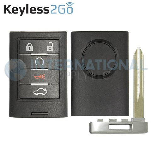 Keyless2Go 5 Button Remote Shell for Cadillac Smart Proximity Key M3N5WY7777A