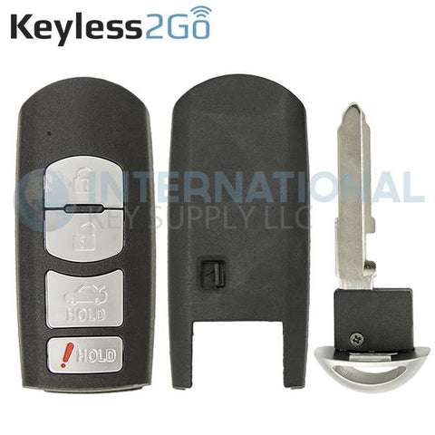 Keyless2Go 4 Button Shell For Mazda Smart Keys WAZSKE13D01