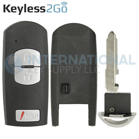 Keyless2Go 3 Button Shell For Mazda Smart Keys WAZSKE13D01