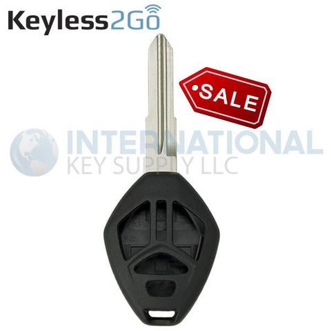 Keyless2Go 4 button Shell for Mitsubishi Remote Head Keys MIT3 with Shoulder Stops - Without Buttons