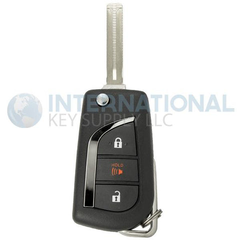 Toyota C-HR 3 Button Remote Flip Key MOZB97TZ / 89070-F4080