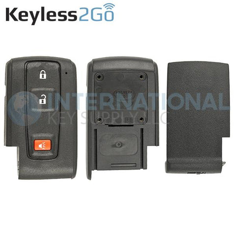 Keyless2Go Replacement 3 Button Remote Shell for M0ZB31EG MOZB21TG Toyota Prius