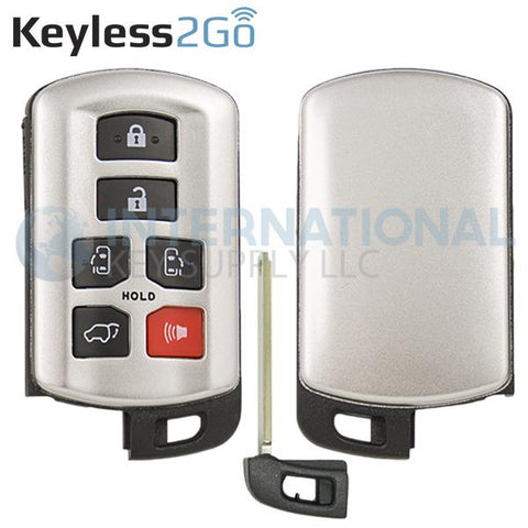 Keyless2Go 6 Button Shell for Smart Key Sienna HYQ14ADR / 89904-08010