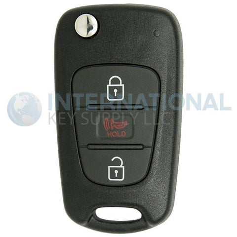 KIA Soul Remote Flip Key Kia Soul 3 Button Flip Key NYOSEKSAM11ATX (AM11MY) 95430-2K250