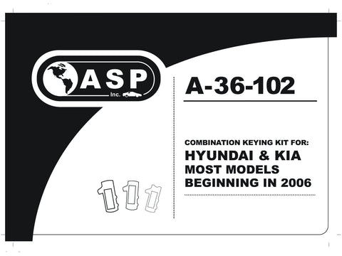 ASP A-36-102 Hyundai/Kia Combination Keying Kit