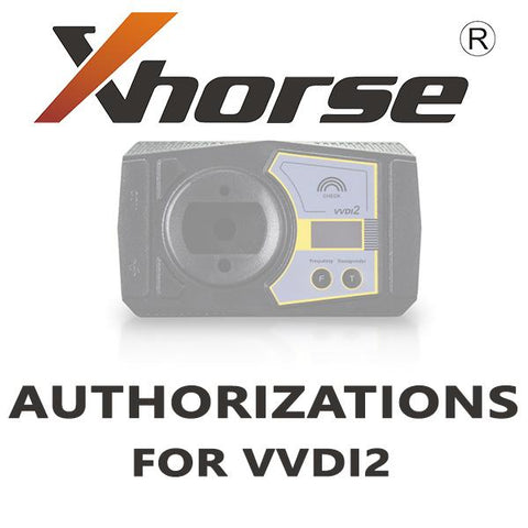 Xhorse VVDI2 Authorizations