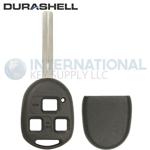 Durashell Rugged 3 Button Remote Key Shell LONG Blade for Lexus by Keyless2Go