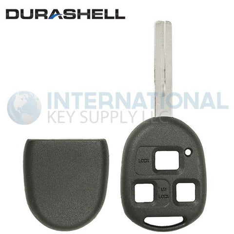 Durashell Rugged 3 Button Remote Key Shell SHORT Blade for Lexus by Keyless2Go