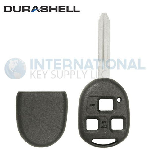 Durashell Rugged 3 Button Remote Key Shell TR47 Blade for Toyota by Keyless2Go