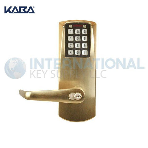 Kaba Access E2031BLL-606-41 Pushbutton Lock E-Plex 2000 Cylindrical Lock Satin Brass - DS
