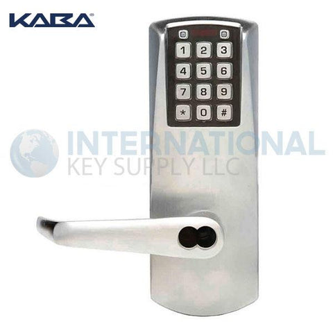 Kaba Access P2031BLL-626-41 Pushbutton Lock PowerPlex Cylindrical Lock Satin Chrome - DS
