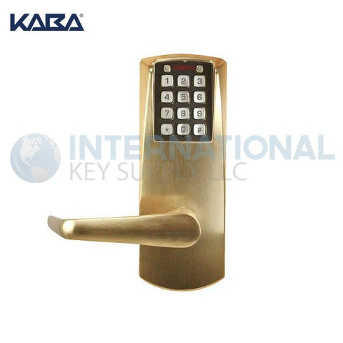 Kaba Access E2031LL-606-41 Pushbutton Lock E-Plex 2000 Cylindrical Lock Satin Brass - DS
