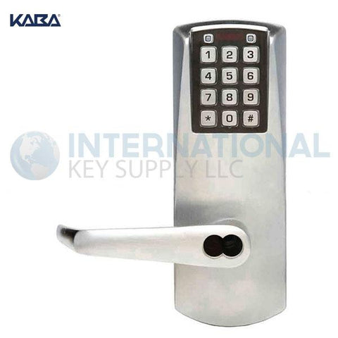 Kaba Access E2031LL-626-41 Pushbutton Lock E-Plex 2000 Cylindrical Lock Satin Chrome - DS