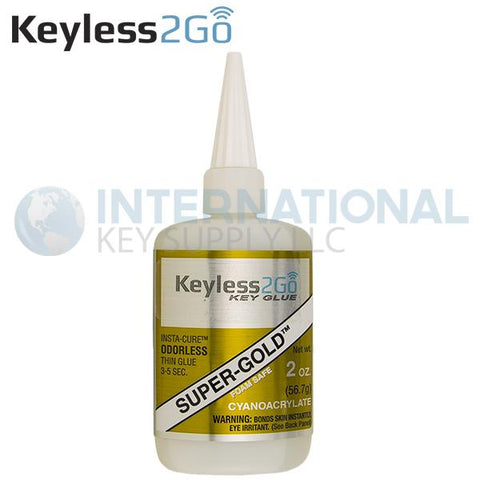 Keyless2Go Super-Gold Odorless Insta-Cure Glue 2oz - Thin