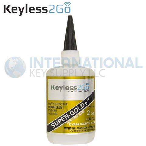 Keyless2Go Super-Gold + Odorless Gap Filling Glue 2oz - Medium