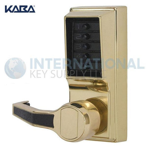 Kaba Access LL1011-03-41 Simplex Pushbutton Lock Cylindrical Lever Lock Bright Brass - DS