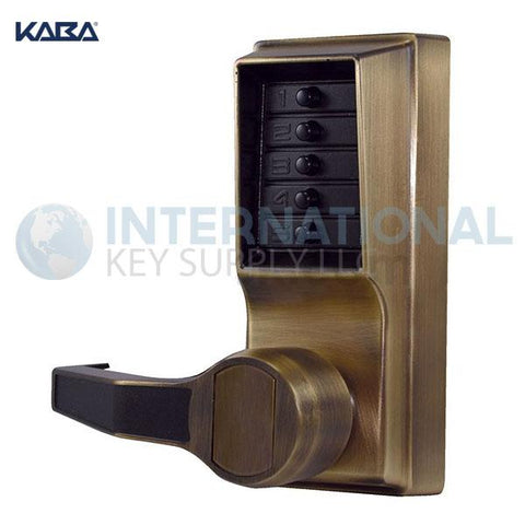Kaba Access LL1011-05-41 Simplex  Pushbutton Lock Cylindrical Lever Lock Antique Brass - DS