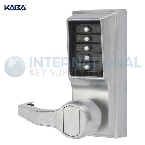 Kaba Access LL1011-26D-41 Simplex Pushbutton Lock Cylindrical Lever Lock Satin Chrome - DS