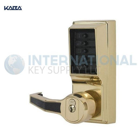 Kaba Access LR1011-03-41 Simplex Pushbutton Lock Cylindrical Lever Lock Bright Brass - DS