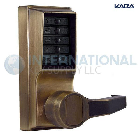 Kaba Access LR1011-05-41 Simplex Pushbutton Lock Cylindrical Lever Lock Antique Brass - DS