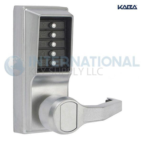 Kaba Access LR1011-26D-41 Simplex Pushbutton Lock Cylindrical Lever Lock Satin Chrome - DS