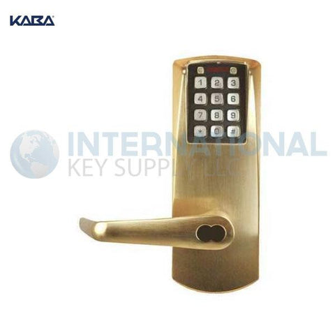 Kaba Access P2031BLL-606-41 Pushbutton Lock PowerPlex Cylindrical Lock Satin Chrome - DS
