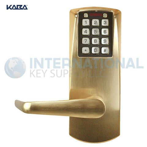 Kaba Access P2031LL-606-41 Pushbutton Lock PowerPlex Cylindrical Lock Satin Chrome - DS